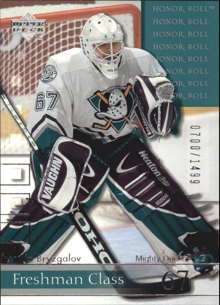 2001-02 Upper Deck Honor Roll #61 Ilja Bryzgalov RC