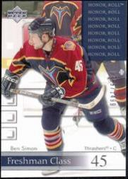 2001-02 Upper Deck Honor Roll #64 Ben Simon RC