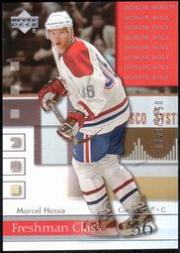 2001-02 Upper Deck Honor Roll #76 Marcel Hossa RC