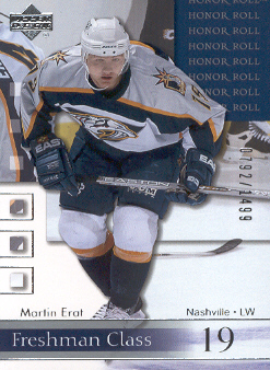 2001-02 Upper Deck Honor Roll #78 Martin Erat RC