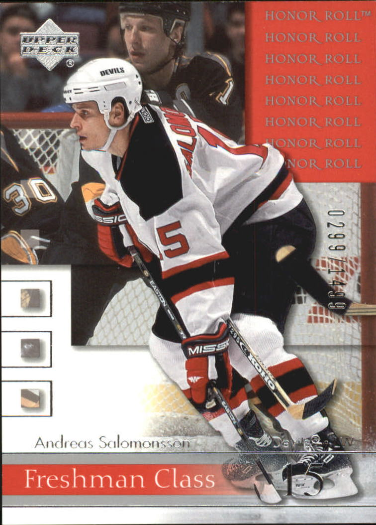 2001-02 Upper Deck Honor Roll #80 Andreas Salomonsson RC