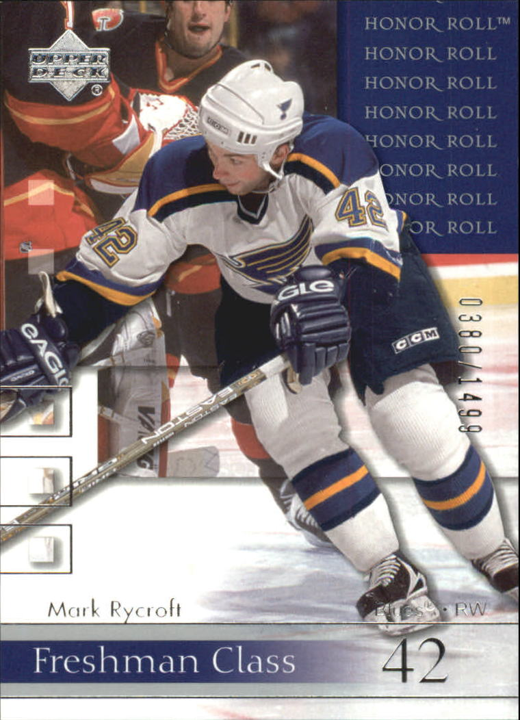 2001-02 Upper Deck Honor Roll #87 Mark Rycroft RC
