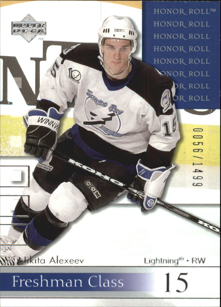 2001-02 Upper Deck Honor Roll #88 Nikita Alexeev RC