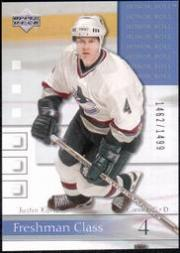 2001-02 Upper Deck Honor Roll #89 Justin Kurtz RC