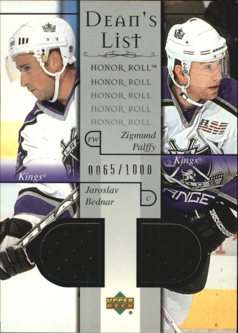 2001-02 Upper Deck Honor Roll #93 Jaroslav Bednar RC/Zigmund Palffy JSY