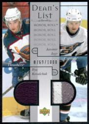 2001-02 Upper Deck Honor Roll #100 Ilya Kovalchuk RC/Jaromir Jagr JSY