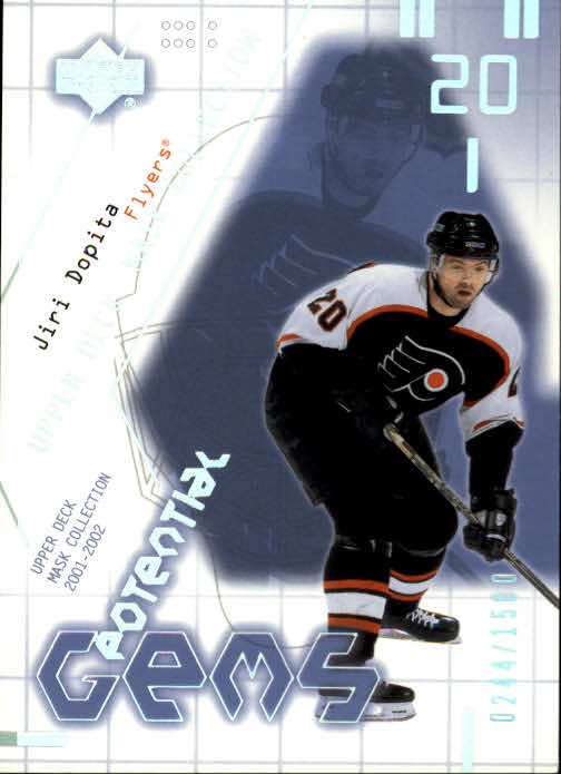 2001-02 UD Mask Collection #159 Jiri Dopita RC