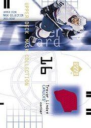 2001-02 UD Mask Collection Jerseys #JTL Trevor Linden