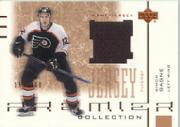 2001-02 UD Premier Collection Jerseys #BSG Simon Gagne B