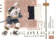 2001-02 UD Premier Collection Jerseys #BSS Sergei Samsonov B