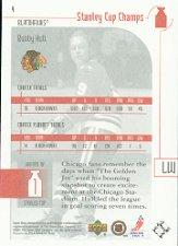 2001-02 UD Stanley Cup Champs #4 Bobby Hull back image