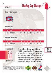 2001-02 UD Stanley Cup Champs #14 Yvan Cournoyer
