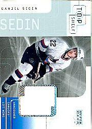 2001-02 UD Top Shelf Jerseys #DS Daniel Sedin