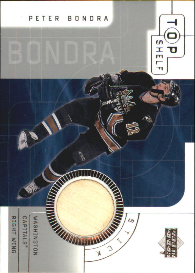2001-02 UD Top Shelf Sticks #SPB Peter Bondra