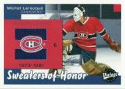 2001-02 Upper Deck Vintage Sweaters of Honor #SHML Michel Larocque