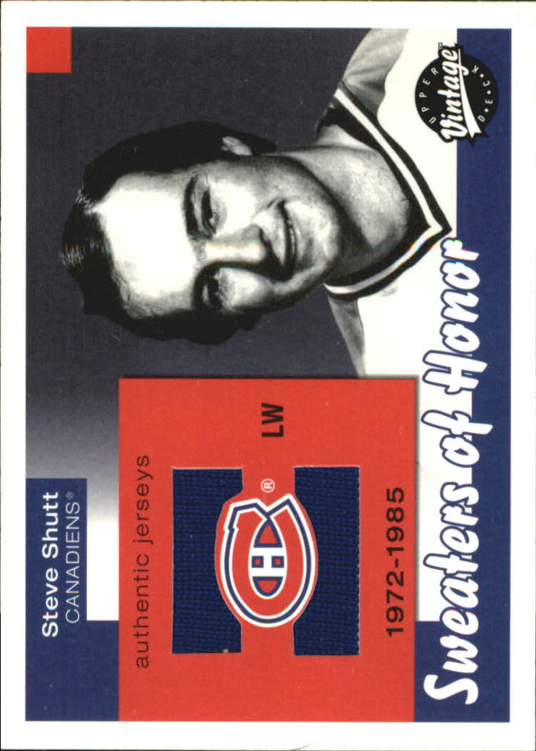 2001-02 Upper Deck Vintage Sweaters of Honor #SHSS Steve Shutt