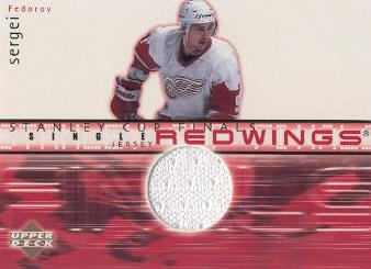 2001-02 Upper Deck Game Jerseys Series II #FJSF Sergei Fedorov