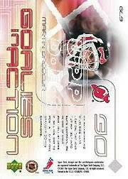 2001-02 Upper Deck Goalies in Action #GL3 Martin Brodeur back image