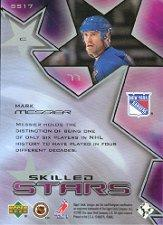 2001-02 Upper Deck Skilled Stars #SS17 Mark Messier back image