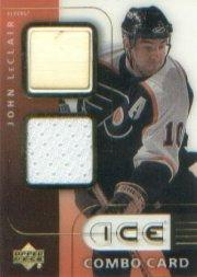 2001-02 Upper Deck Ice Jersey Combos #JL John LeClair