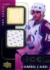 2001-02 Upper Deck Ice Jersey Combos #JS Joe Sakic