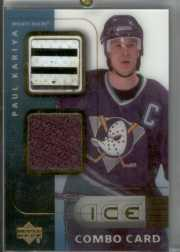 2001-02 Upper Deck Ice Jersey Combos #PK Paul Kariya