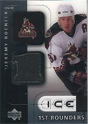 2001-02 Upper Deck Ice First Rounders Jerseys #FJR Jeremy Roenick