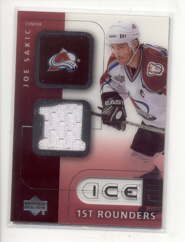 2001-02 Upper Deck Ice First Rounders Jerseys #FJS Joe Sakic