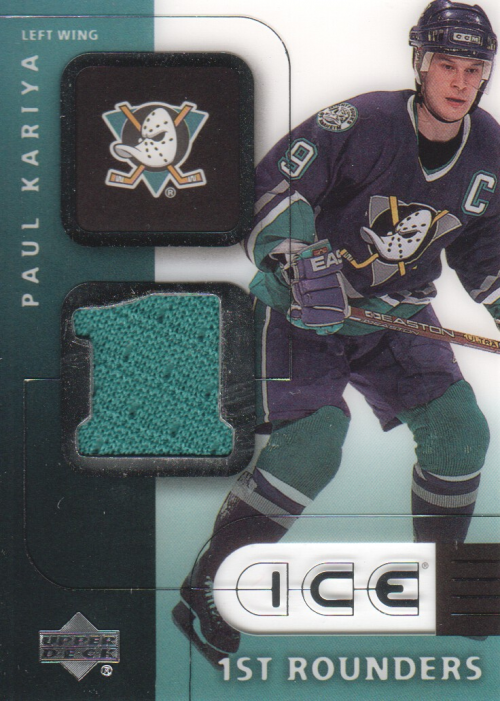 2001-02 Upper Deck Ice First Rounders Jerseys #FPK Paul Kariya