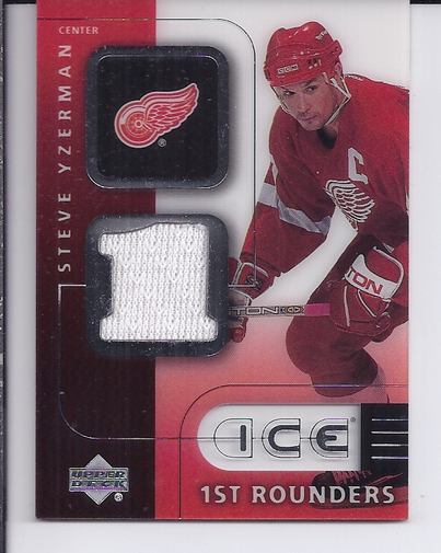 2001-02 Upper Deck Ice First Rounders Jerseys #FSY Steve Yzerman