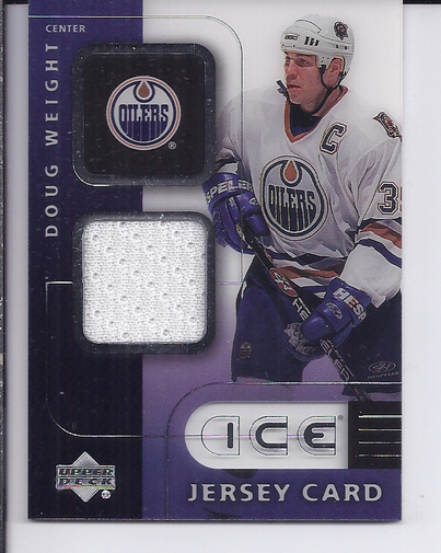 2001-02 Upper Deck Ice Jerseys #JDW Doug Weight