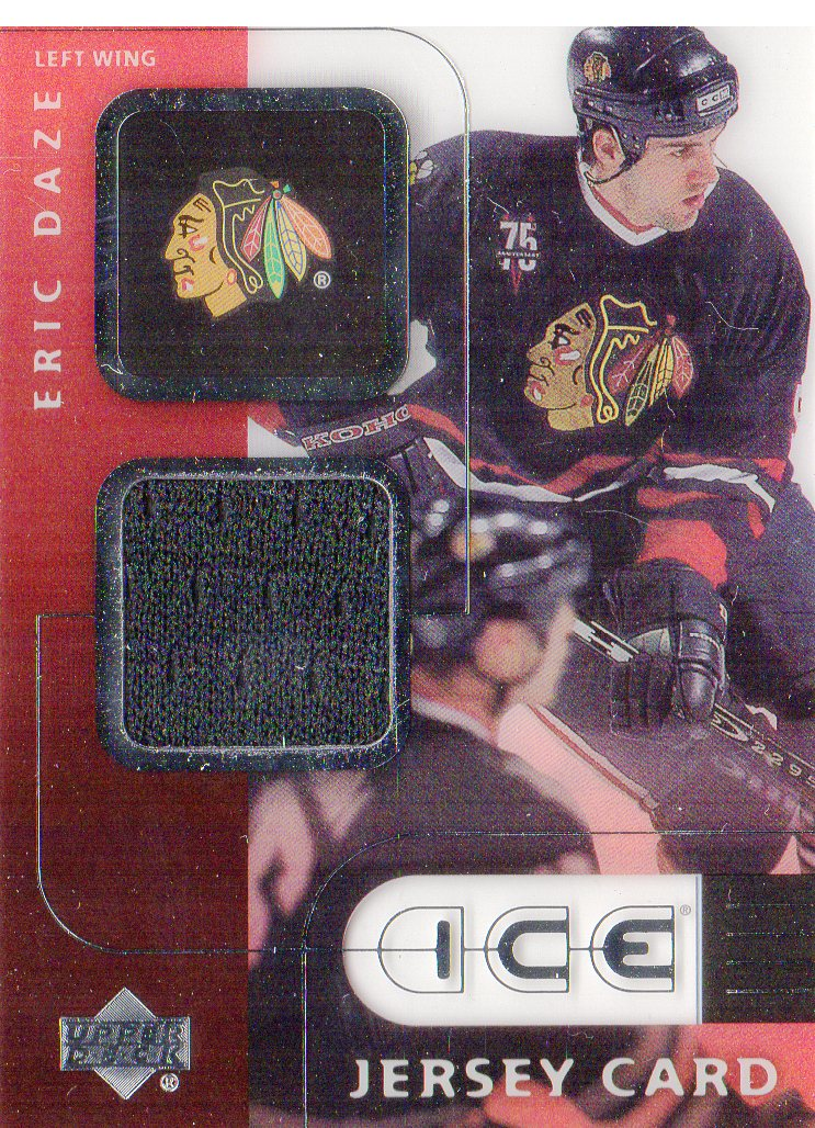 2001-02 Upper Deck Ice Jerseys #JED Eric Daze