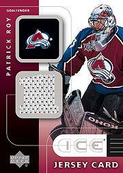 2001-02 Upper Deck Ice Jerseys #JPR Patrick Roy