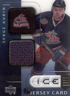 2001-02 Upper Deck Ice Jerseys #JSA Serge Aubin