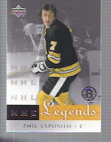 2001-02 Upper Deck Legends #3 Phil Esposito