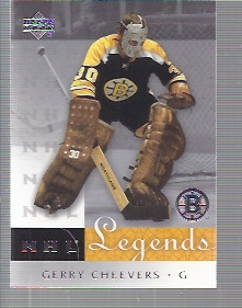 2001-02 Upper Deck Legends #6 Gerry Cheevers