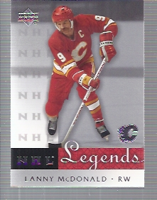 2001-02 Upper Deck Legends #9 Lanny McDonald