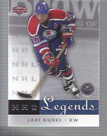 2001-02 Upper Deck Legends #23 Jari Kurri