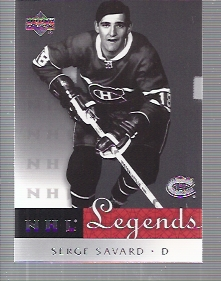 2001-02 Upper Deck Legends #32 Serge Savard