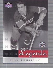 2001-02 Upper Deck Legends #38 Henri Richard