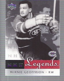 2001-02 Upper Deck Legends #39 Bernie Geoffrion