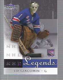 2001-02 Upper Deck Legends #46 Ed Giacomin