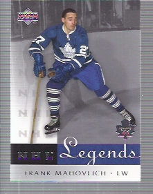 2001-02 Upper Deck Legends #58 Frank Mahovlich