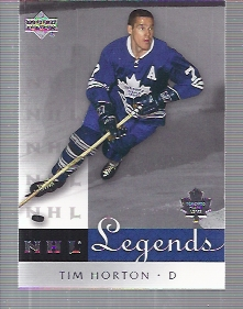 2001-02 Upper Deck Legends #60 Tim Horton
