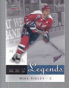 2001-02 Upper Deck Legends #66 Mike Ridley
