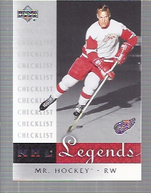 2001-02 Upper Deck Legends #99 Gordie Howe CL