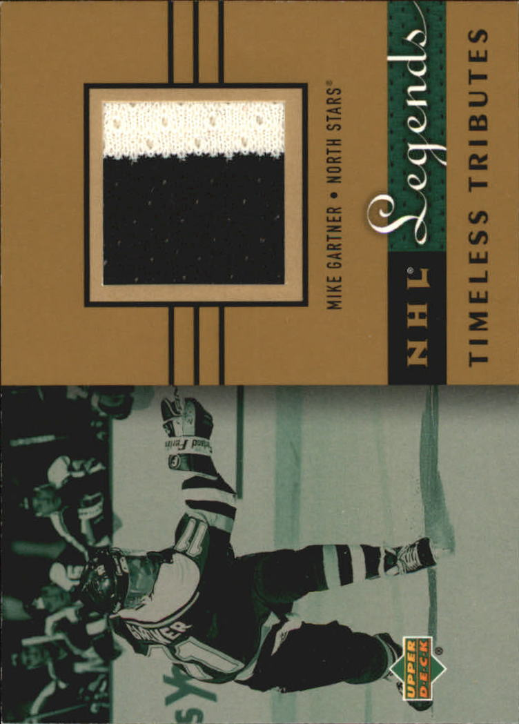 2001-02 Upper Deck Legends Timeless Tributes Jerseys #TTMG Mike Gartner