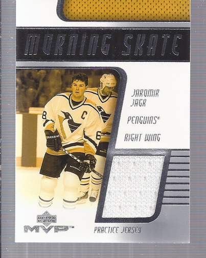 2001-02 Upper Deck MVP Morning Skate Jerseys #JJJ Jaromir Jagr