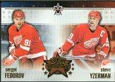 2001-02 Vanguard East Meets West #7 Steve Yzerman/Sergei Fedorov