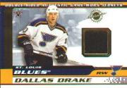 2001-02 Vanguard Memorabilia #28 Dallas Drake/Mike Eastwood